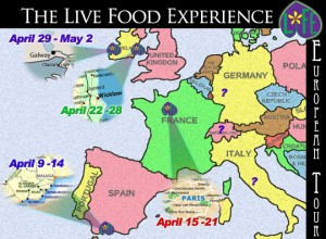 LFE Euro Tour Map