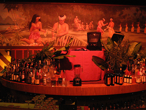 Luau Mural at Julian's