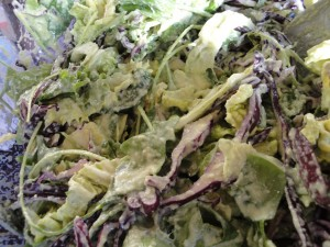 cabbage arugala salad